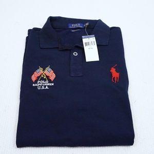 Polo Ralph Lauren USA Men's Custom Slim Fit Mesh